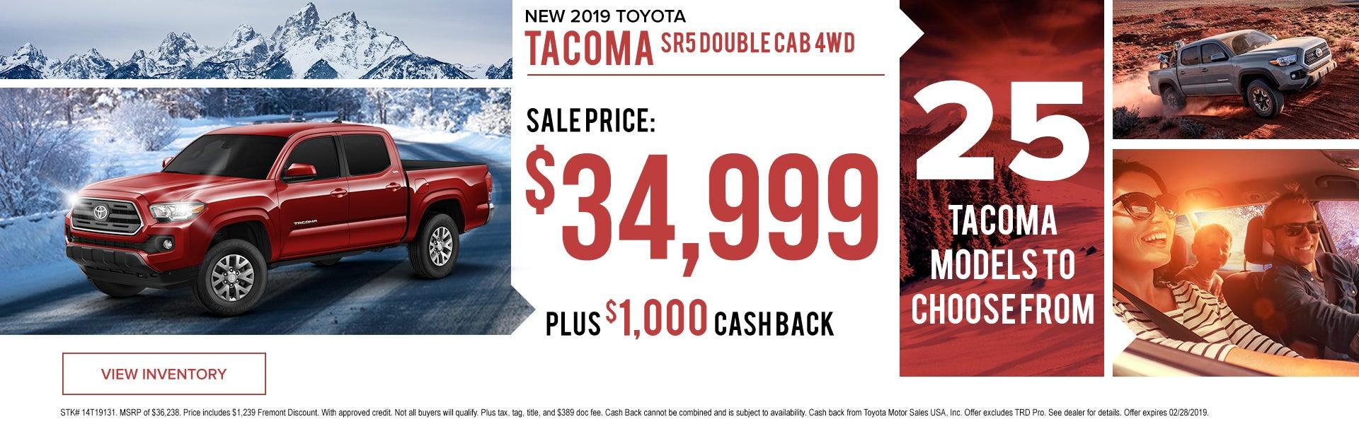 New 2019 Toyota Tacoma Fremont Toyota Sheridan Specials Sheridan Wy